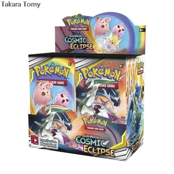 324pcs Pokemones cards Cosmic Eclipse Edition in English version Booster Box Collectible Trading Cards Game for kids 1