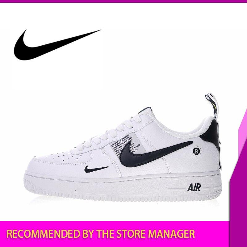 Original authentique Nike Air Force 1 07 LV8 utilitaire Pack hommes chaussures de skate baskets athlétique Designer chaussures 2018 nouveau