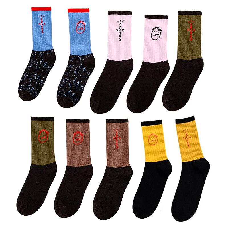 COCOCAT  New Bandanas Crew Socks Men Sport Travis Scott Cactus Jack Hip Hop Street Skate Socks