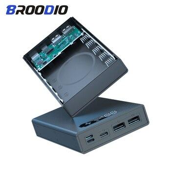 5*18650 чехол для внешнего аккумулятора с поддержкой быстрого и беспроводного зарядного устройства Съемный держатель для аккумулятора 18650 зар...