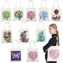 Diamond Painting Tote Bag Reusable Durable DIY Diamond Art Handbag Foldable Storage Bag Cross Stitch Embroidery Kit Art Craft