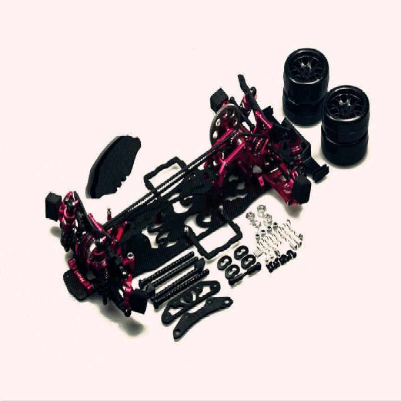 Carbon Alloy Rcmoy Rc Car Kit For 3 Racing Cherry Blossom D4 Awd 4wd Four-wheel Drive/rear Drive New Drift Full Op Drift Frame