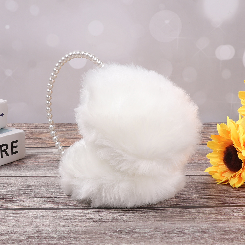 Sunflower Black White Flower Plant Winter Earmuffs Ear Warmers Faux Fur Foldable Plush Outdoor Gift