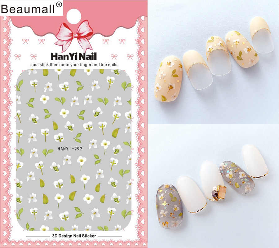 Florals Patterns! Nails Art Manicure Back Glue Decal Decorations Design Nail Sticker For Nails Tips Beauty
