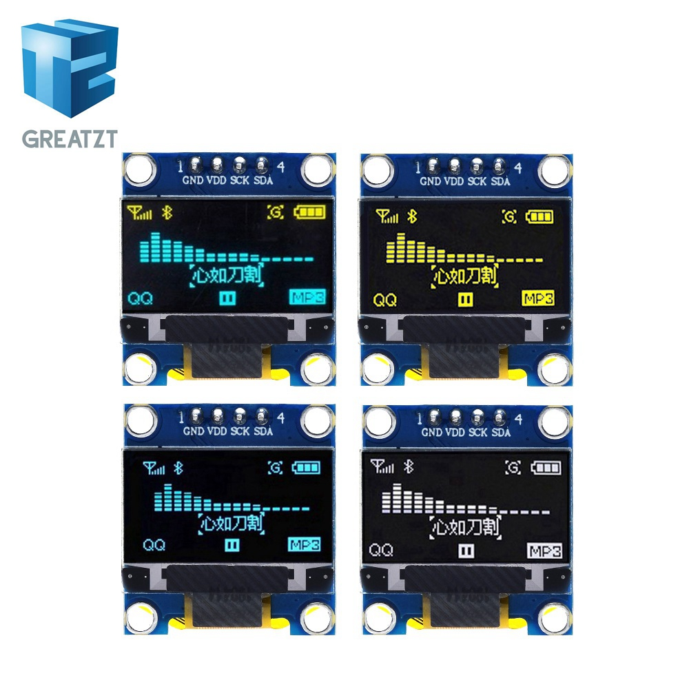New Product 0.96 Inch OLED IIC White/YELLOW BLUE/BLUE 12864 OLED Display Module I2C SSD1306 LCD Screen Board For Arduino