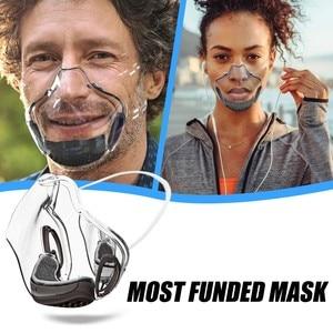 Fashion Protect Mask Durable Face Shields Cover Combine Plastic Reusable Transparent Clear Dustproof Haze Foggy Design Masque 4