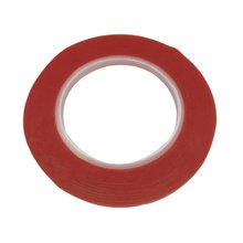 25M/Roll Waterproof Red Film Transparent Double Side Adhesive Tape 1mm /2mm/5mm/8mm Width High Temperature Resistance Tape.