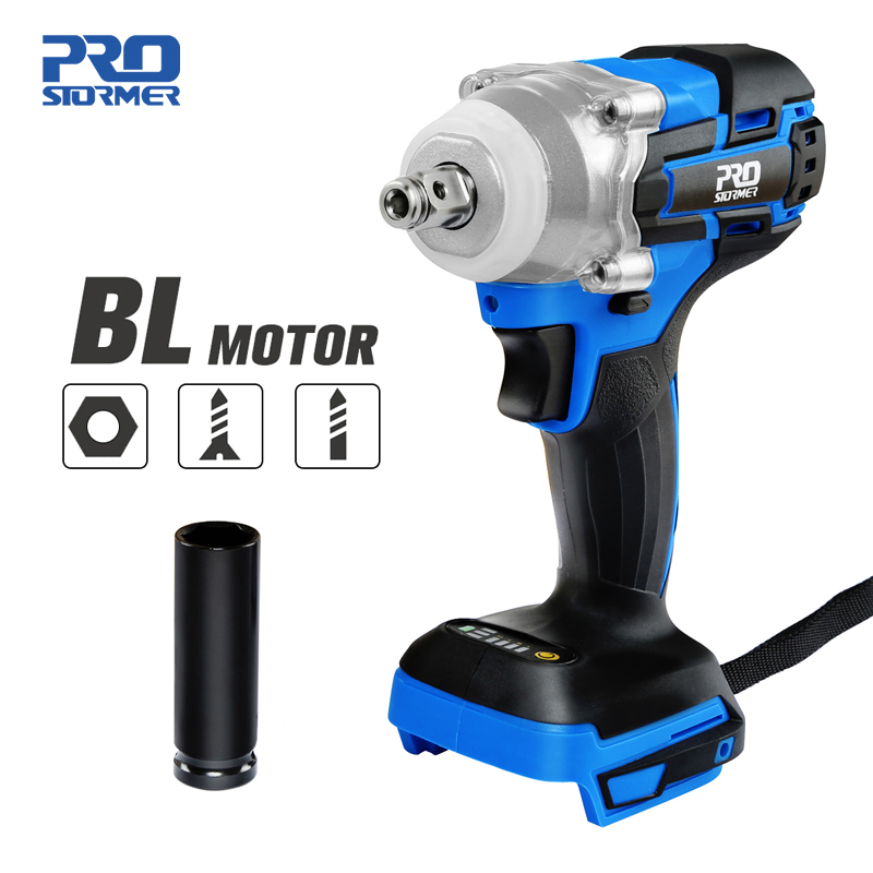 Electric Rechargeab Brushless Wrench Impact Cordless Electric Drill Screwdriver Without Lithium Battery 21V By PROSTORMER