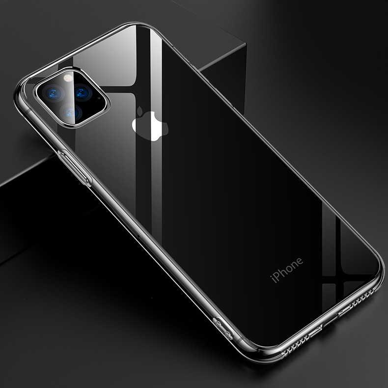 สำหรับ iPhone 11 2019 กรณี Slim Clear Soft TPU สนับสนุนสำหรับ iPhone 11 Pro Max 5.8in 6.1in 6.5in X XR XS MAX