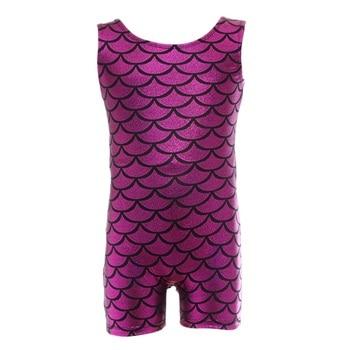Girls Gymnastics suit sleeveless trousers radium color matching body suit ballet gymnastics dance child dance