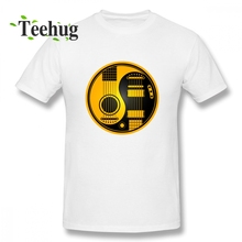 Anime Yellow And Black Acoustic Electric Guitars Yin Yang T Shirt For Boy New Arrival Unique Round Neck Clothes