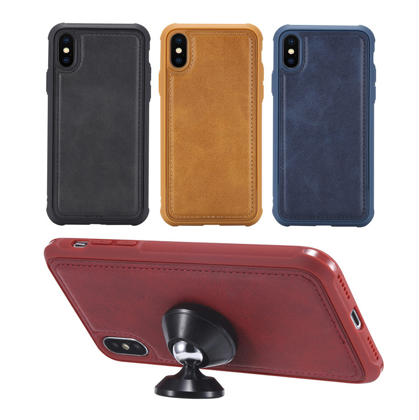 5pcs Magnetic PU Leather Case For iphone 11 Pro Max XR XS X 7 <font><b>8</b></font> Plus 6 6S For Samsung Galaxy <font><b>Note</b></font> 10 Pro 9 <font><b>8</b></font> S10 Plus S9 S8 image