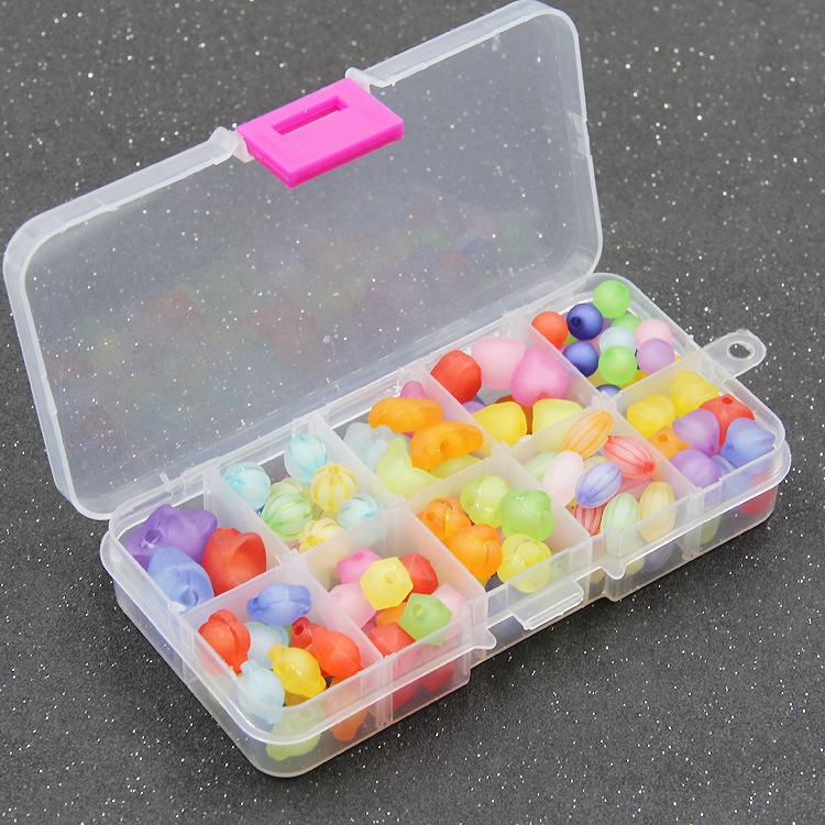 Ten Grid Children Jewelry Handmade DIY Beaded Bracelet Gift Box Loose Beads Weak Sight Training Educational Toy
