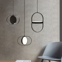 Nordic simples conduziu a iluminação da lâmpada pingente sala de estar quarto novidade arte do ferro luzes pingente estilo industrial moderno decoração para casa|Luzes de pendentes| |  -