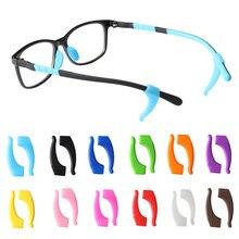 Moda anti deslizamento gancho da orelha óculos acessórios óculos de olho silicone aperto templo ponta titular óculos óculos aperto