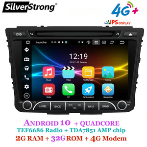 SilverStrong OctaCore IPS 4G 64GB Creta Car DVD For Hyundai ix25 Creta Android10.0 GPS Radio Media Player Quadcore 4G Modem(Hong Kong,China)