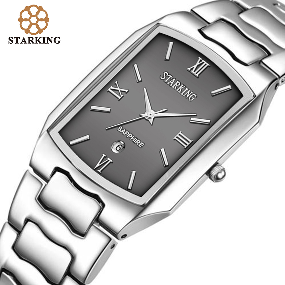 STARKING Men Japanese Movement Quartz Watches Businessmen 2016 Arrival Fashion Casual Famous Brand Stainless Steel Watch BM0605