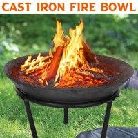 55x55 cm de aço grande bacia fogo ferro fundido firepit moderno à moda fogueira pit jardim ao ar livre para jardim pátio terraço acampamento
