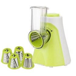 Cortadora eléctrica multifuncional de frutas y verduras, cortadora de patatas de zanahoria, cuchilla de acero inoxidable, cortador de ensalada EU