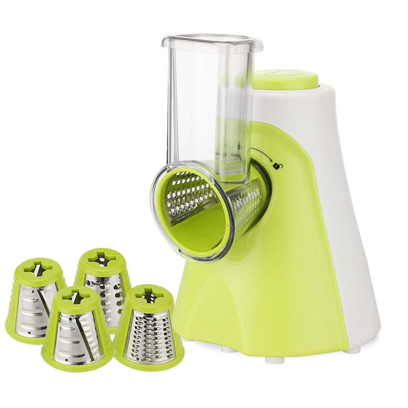 Multifunctional Electric Fruit Vegetable Slicer Cutter Carrot Potato Cutting Machine Stainless Steel Blade Salad Chopper EU