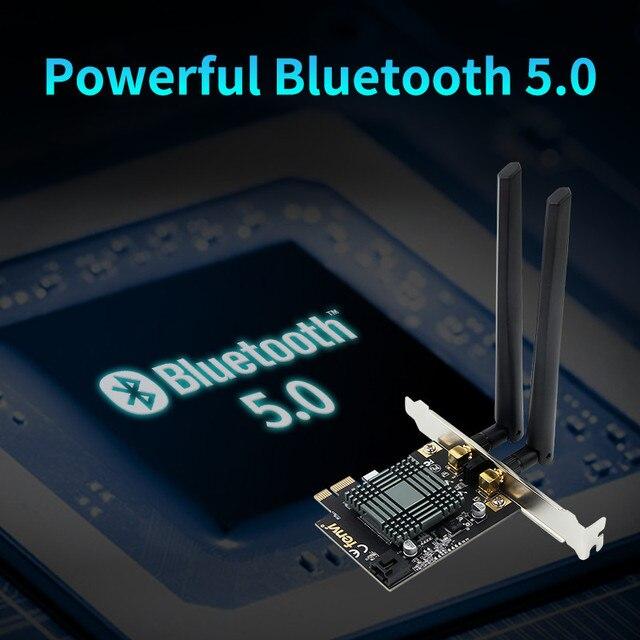 Adaptador de escritorio inalámbrico PCI-E WiFi 9260NGW Bluetooth 2100 802.11ac 5,0G/5G MU-MIMO de doble banda 2,4 Mbps para antena Windows 10 6DB