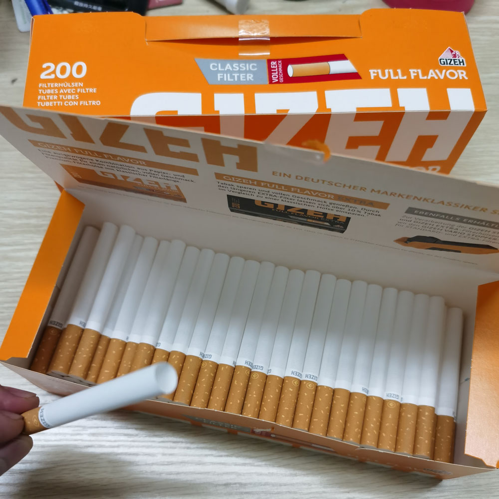 200 PCS Cigarette Fittings Empty Pipe