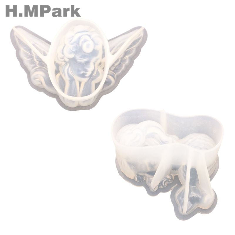 UV Crystal Epoxy Resin Mold Angel Fish Shape DIY Handmade Jewelry Tool Silicone Mold For Resin High Mirror Surface Pendant Molds in Jewelry Tools Equipments from Jewelry Accessories