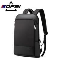 BOPAI Männer/Frauen Rucksack Mode Multifunktions USB Lade Ultradünne Licht 14 Zoll Laptop Reise Rucksack Anti-diebstahl Tasche unisex