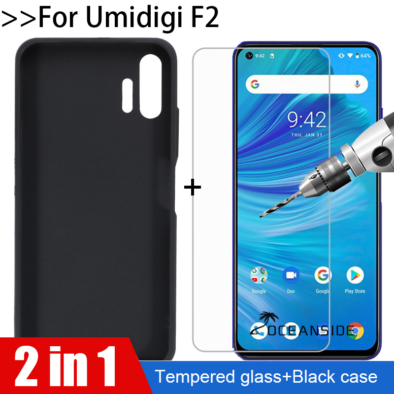 2 Pack for ZTE Blade L8 // ZTE A3 2019 Case + Transparent for ZTE Blade L8 // ZTE A3 2019 Glass Screen Protector Slim Clear Soft TPU Silicone Phone Case Cover with 3 in 1 Clear