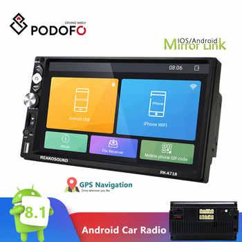 Podofo 2DIN Andriod 8.1 Car Radio 7