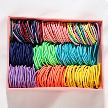 120/60PCS/Lot Children Small Basic Elastic Hair Bands Colorful Rubber 3cm Ponytail Holder Ties Kids Accessories
