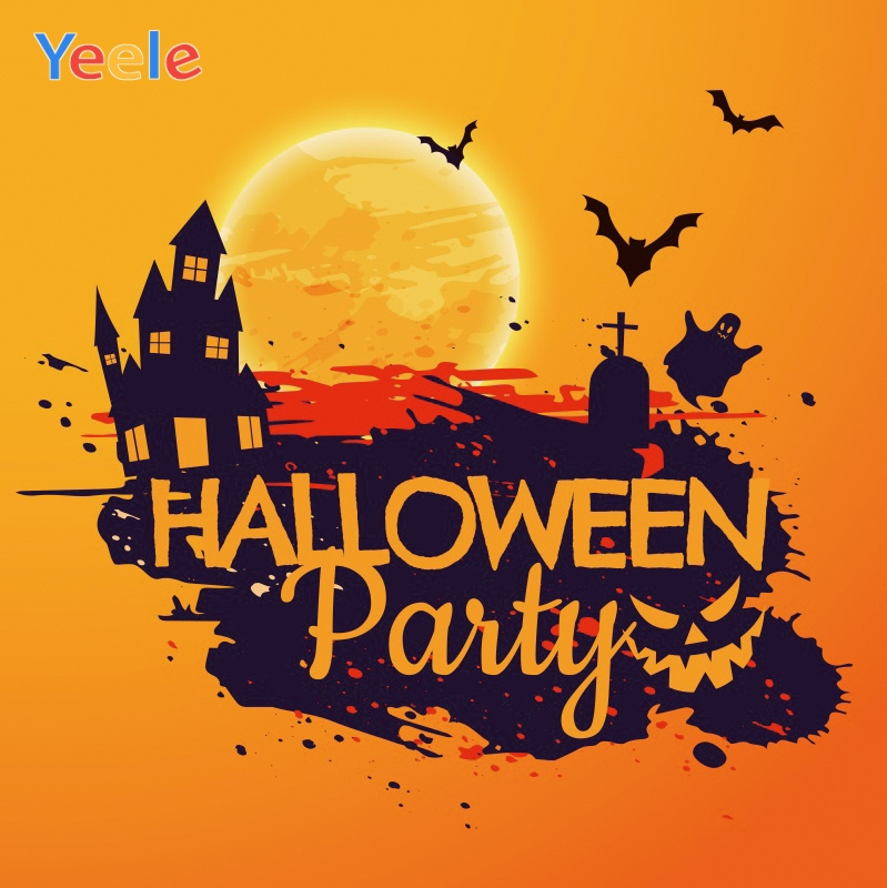 Yeele Halloween Photocall Moon Castles Tombs Ghost Photography Backdrops Personalized Photographic Background For Photo Studio in Background from Consumer Electronics