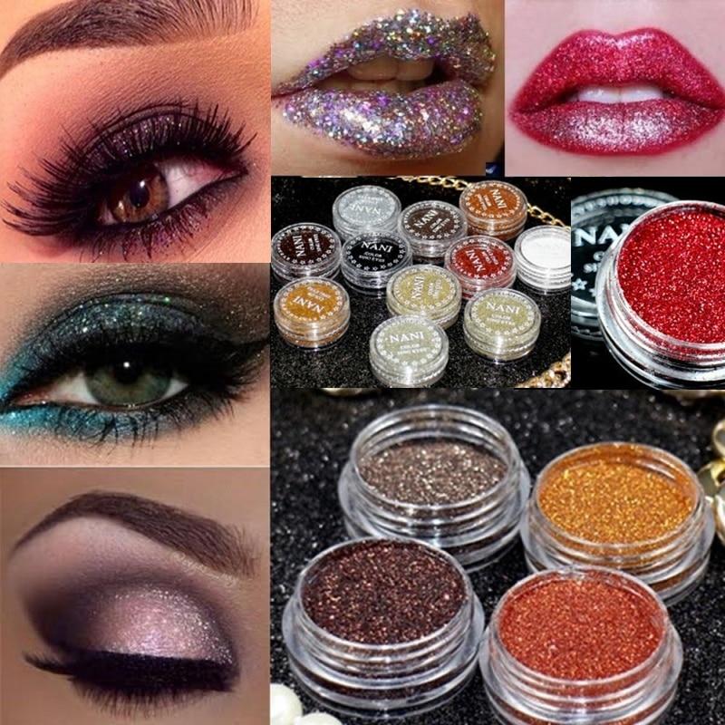 24 Colors Glitter Eyes Lip Face Makeup Shimmer Powder Monochrome Eyes Baby Bride Pearl Powder Glitters Shining Make up