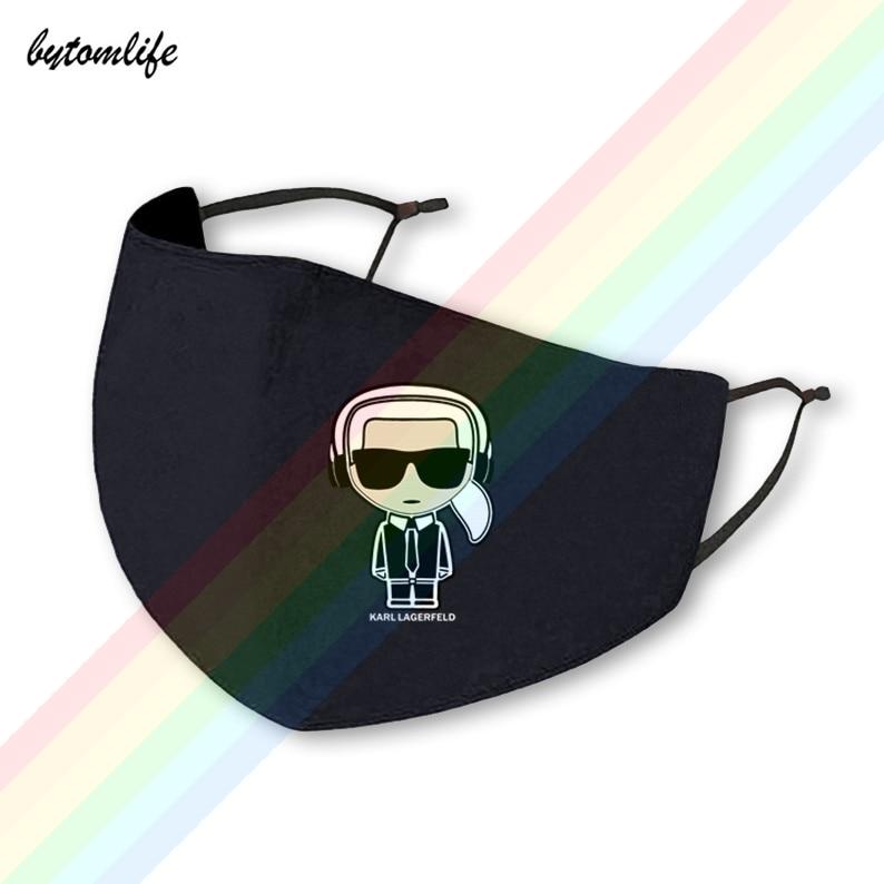 Новинка 2021 г., модная маска с логотипом музыкального карлса lagerфельда, Классическая моющаяся дышащая многоразовая маска для рта из полиэсте...
