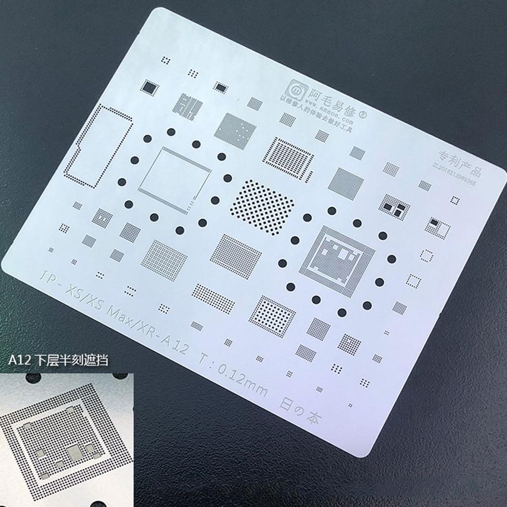 Amaoe For X iPhone XS/XS MAX/XR A12 CPU RAM Nand Flash IC Chip BGA IC Solder Reballing Stencil Net 1