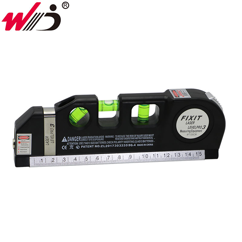 Nivel láser Horizon alineador de medida Vertical reglas estándar y métricas Nivel de medición multipropósito láser negro 5 unidades/unids/lote 650nm 5 mW Módulo de línea láser rojo 3VDC 120 grados C 12X35mm