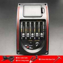 PS 500 5 полосный эквалайзер для акустической гитары эквалайзер для эквалайзера народная гитара ra пьезо пикап с держателем развертки инструменты Sting winder Cable