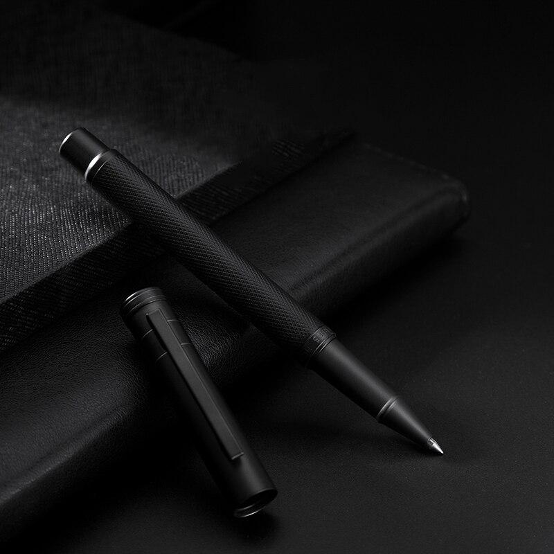 HongDian Черная Ручка-роллер Красивая текстура дерева гладкая 0,5 мм точка отличная авторучка в подарок для подписи бизнеса офиса