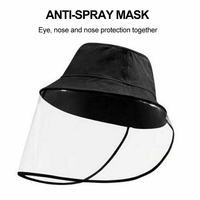 Fashion Safe Hat With Face Anti-droplets Anti-dust Anti-fog Bucket Hat