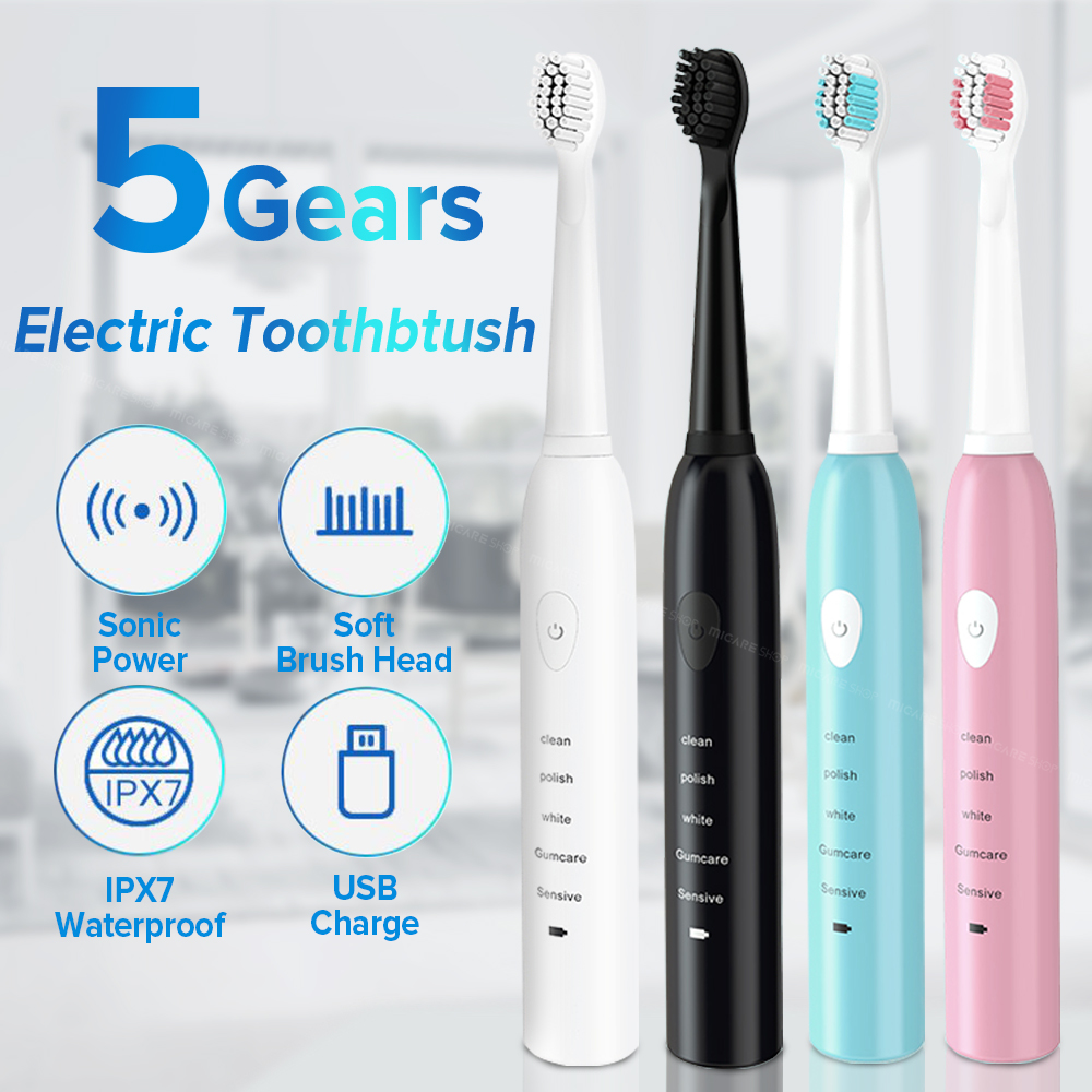 FEEN Powerful Ultrasonic Sonic Electric Toothbrush USB Rechargeable Tooth Brush Adult Electronic Washable Whitening Teeth Brush