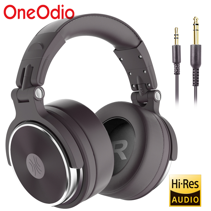 Oneodio pro-50 fones de ouvido com fio profissional estúdio dj fone de ouvido com microfone sobre a orelha monitor de gravação estéreo