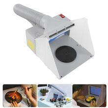 Portable Airbrush Spray Extractor Set 12W LED Light Airbrush Spray Booth Exhaust Filter EU/US Plug Domestic Delivery