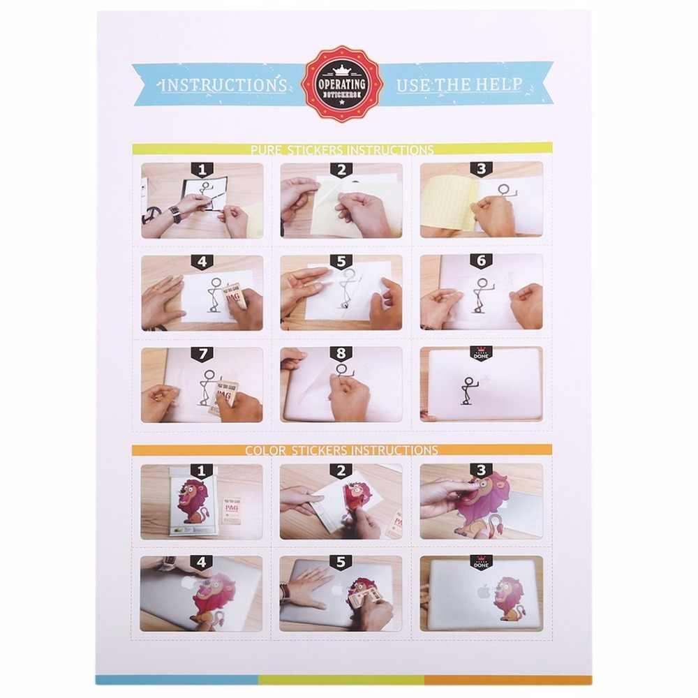 ملصق لوحي لماك بوك 13 بوصة 15 بوصة كامل الجسم غطاء الجلد ملصق حائط من الفينيل تصميم بسيط طباعة لباد الهواء اللوحي الصغير ماك بوك