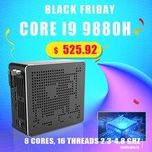 2020 חדש מיני מחשב Intel Core i9 9880H 8 ליבות 16 אשכולות משחקי מחשב שולחני 2 * DDR4 2 * M.2 NVMe Win10 פרו 4K HTPC HDMI מיני DP