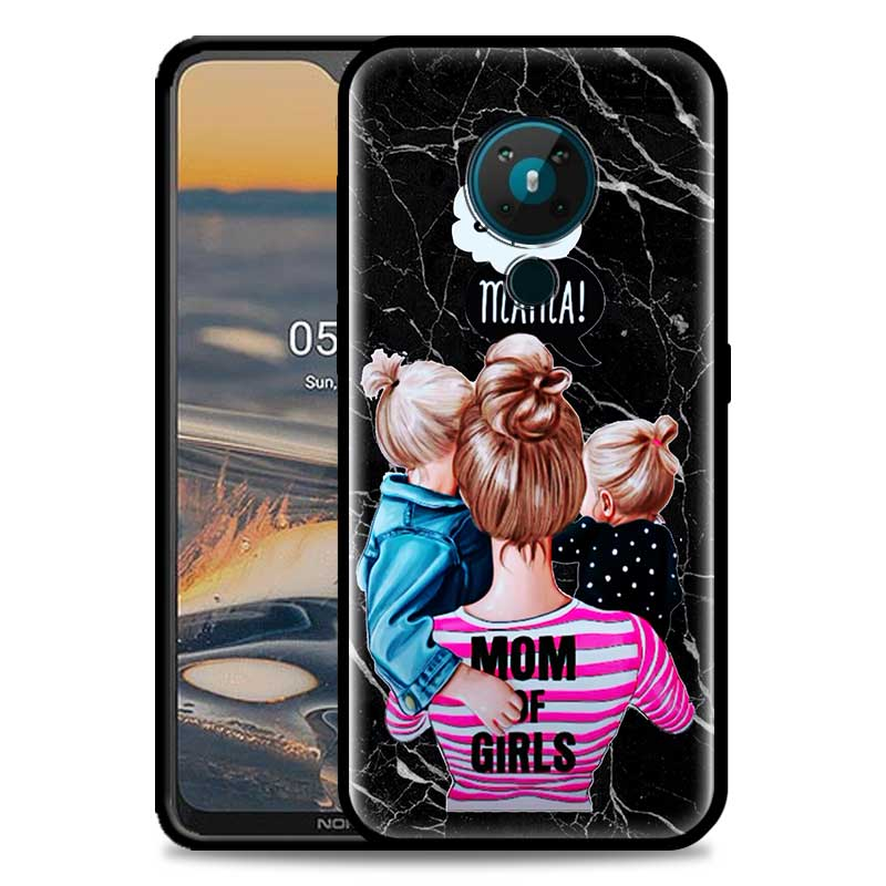 Marble Baby Mama Super Mom Girl Phone Case For Nokia 5.4 1.4 7.2 5.3 2.3 3.4 3.2 4.2 2.4 8.3 5G TPU Phone Cover Luxury Coque Bag
