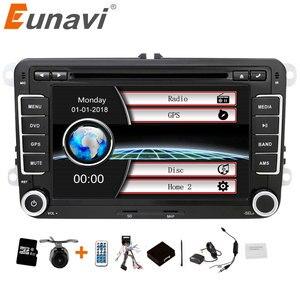 Image 1 - Eunavi 2 din 7 pollici Auto lettore DVD Radio Stereo GPS per VW GOLF POLO JETTA TOURAN MK5 MK6 PASSAT b6 bluetooth SWC Touch Screen