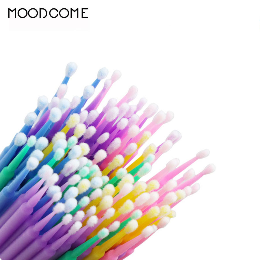 100 PCS Eyelash Cleaning Stick Disposable Cotton Swab Sterile High Quality Lash Removing Tools For Makeup Eyelash Stick Tattoo