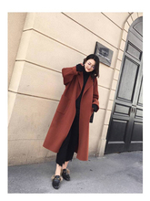 Woolen overcoat womenmedium and long style new autumn winter Korean version popular double-sided thicker woolen jacket