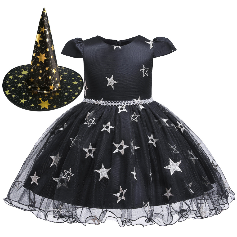 Girls Witch Halloween Christmas Toddler Kids Tutu Dresses Baby Children Clothing Princess Dress Party Costume Clothes 1 2 4 6 8Y 2