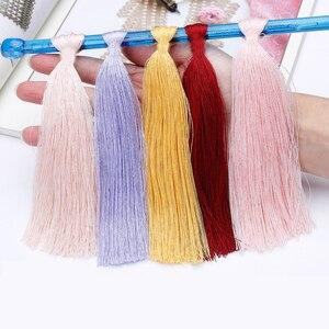 Image 5 - 300グラムイタリア桑シルク糸木綿糸でcrocheライン絹織物デザイナークール夏の氷の絹ニットZL4
